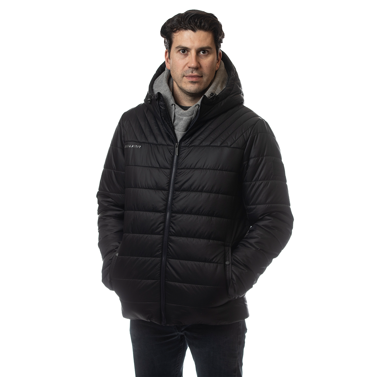 BAUER SUPREME HOODED PUFFER JACKET 1